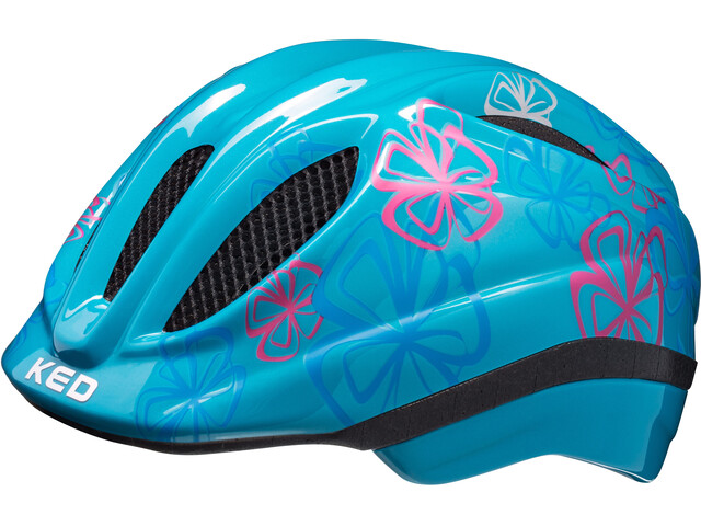 KED Meggy II Trend Helmet Kids Lightblue Flower